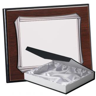 Kit placa de madera color wengue, aluminio y estuche lujo, serie P370B-50900 (Frontal)