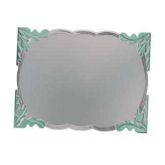 Placa aluminio rectangular plata mate, serie P390 (Frontal)