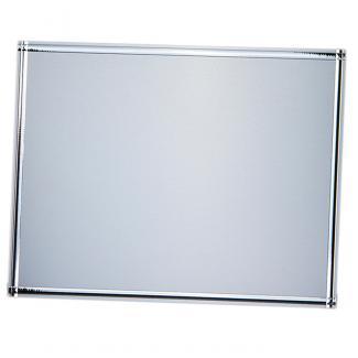 Placa aluminio rectangular plata mate, serie P400 (Frontal)