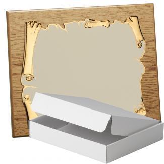 Kit placa de madera color roble natural, aluminio y estuche sencillo, serie P410A-50890 (Frontal)