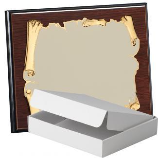 Kit placa de madera color wengue, aluminio y estuche sencillo, serie P410A-50900 (Frontal)