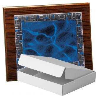 Kit placa de madera color zebrano nogal, aluminio y estuche sencillo, serie P430A-50570 (Frontal)