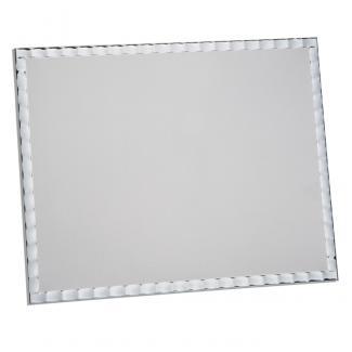 Placa aluminio rectangular plata mate, serie P440 (Frontal)
