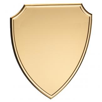Placa aluminio escudo oro mate, serie P470 (Frontal)