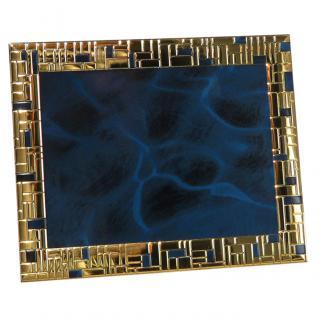 Placa aluminio rectangular azul, serie P490 (Frontal)