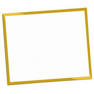 Placa aluminio sublimación rectangular blanco, serie P530 (Frontal)