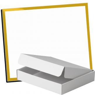 Kit placa de madera color negro mate, aluminio y estuche sencillo, serie P530A-50120 (Frontal)