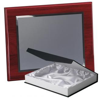 Kit placa de madera color etimoe caoba, aluminio y estuche lujo, serie P560B-50270 (Frontal)